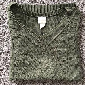 Chico's V-Neck Sleeveless Sweater Vest